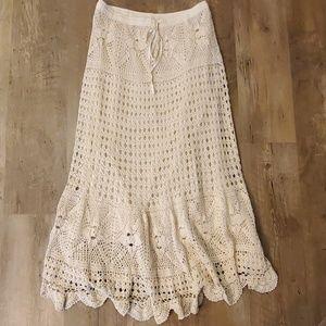 Crochet boho skirt